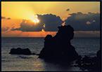 27-七浦海岸の夕陽