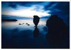 夜明けのえびす岩