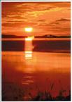 焼けるサロマ湖